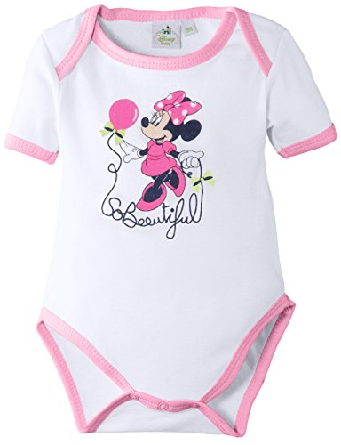 Disney Minnie Mouse Body, Rose (Optic White/Pink), 24 Mois (Taille Fabricant: 23 Months) Bébé Fille