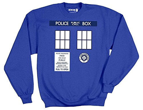 Doctor Who Tardis Trompe Royal Blue Pullover Sweatshirt | 2XL