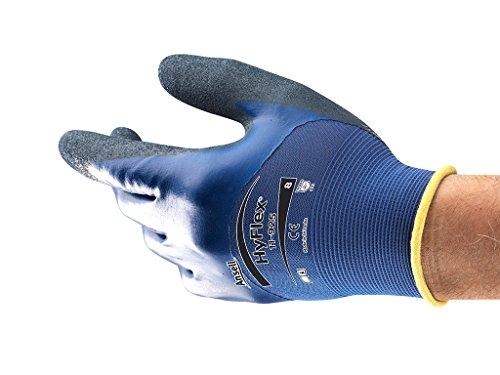HyFlex Ansell 11-925 / 10 Öl abweisende Handschuhe, Mechanikschutz, Größe 10, Blau (12 Paar pro Beutel)