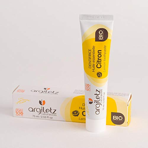 ARGILETZ Dentifrice 75ml BIO au citron distribué par DSTOCK60