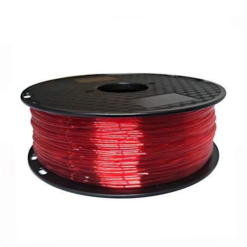 YANGDONG Elastische Flexible TPU, 3D Drucker Filament 1,75mm 500g, 85a Gummimaterial, Für 3D-Druck, Kein Verstopfung, Keine Luftblasen, Umweltfreundlich (Color : 5A Red 500g)