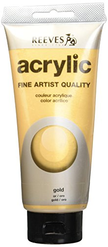 REEVES Acrylfarbe Acrylic, hohe Pigmentierung, 75ml Tube - Gold