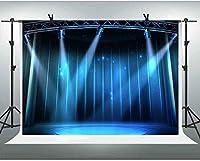 ZPCスポットライトステージ背景7x5ftフォトスタジオハリウッド賞式典写真の背景ビニールの背景スタジオの小道具GEEV524