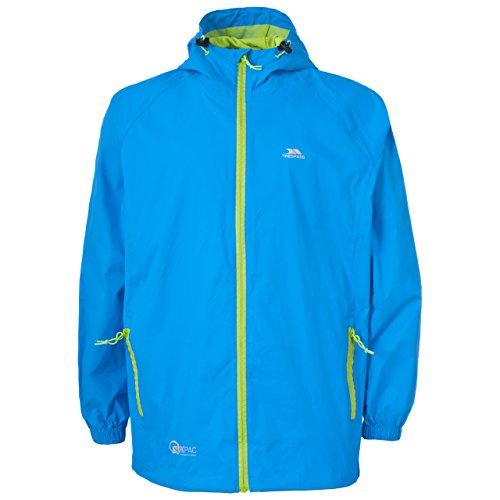 Trespass Unisex Erwachsene Qikpac Jacket Kompakt Zusammenrollbare Wasserdichte Regenjacke, Blau (Cobalt), XL