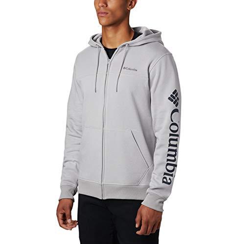 Columbia Herren M Logo Fleece FZ Oberteil, Grey H, M