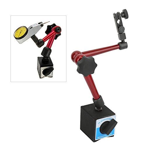 Magnetischer Basisständerhalter, einstellbare Messuhr Testanzeige Magnetischer Messständer-Basishalter für Bearbeitung, Werkstückmessung und Gerätekalibrierung(Small Base)