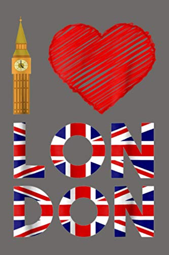 British Flag Love Heart London Symbol: Notebook Planner - 6x9 inch Daily Planner Journal, To Do List Notebook, Daily Organizer, 114 Pages
