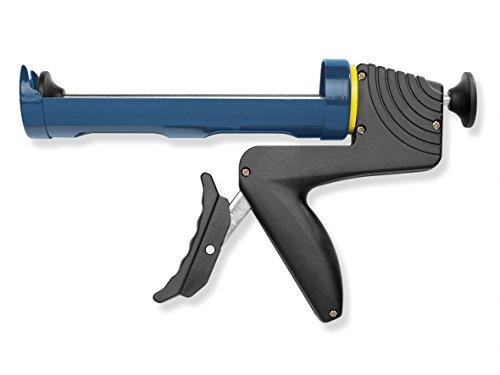 Colorus Profi Kartuschenpresse 310 ml | Kartuschenpistole halboffen mit drehbarem Griff | Silikonpresse mit langem Hebel für optimale Anwendung | Auspresspistole Acrylpresse Silikonpistole