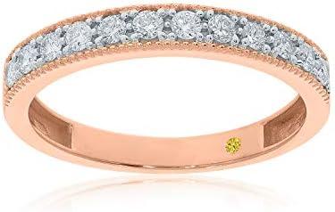 La Joya 1 12 Carat Total Weight ctw Certified Lab Grown Diamond Rings for Women with Milgrain product image