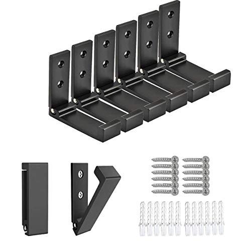 DQZSY 6 Piezas (Negro), Ganchos de aleación de Aluminio, Ganchos de Pared...