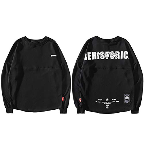 CLGXXH Kapuzenpullover Sweatshirt Harajuku Sweatshirt Pullover Hip Hop Streetwear Übergroße Herren Sweatshirts Hoodie Prehistoric Print Langes Sweat Shirt Herbst