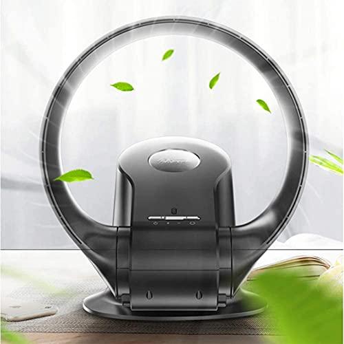 ZLZNX Ventilador sin aspas,Ventilador de silenciamiento eléctrico con Control Remoto,Sin Blade Potente Ventilador de Pared de Viento Suave,Desktop Tower Fan con Modo de 3 velocidades,Negro