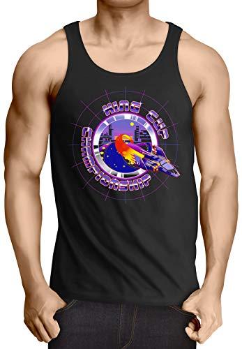 A.N.T. King Cup Champion Camiseta de Tirantes para Hombre Tank Top T-Shirt Captain Falcon fzero, Talla:XL