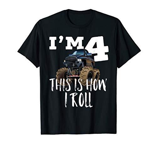 4th Birthday Boy - Monster Truck Ru…