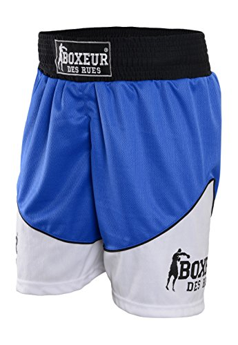 BOXEUR DES RUES Fight Activewear Short de Boxe M Bleu