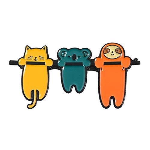 Aisoway Cute Funny Sloth Emaille Pin Faule Tier Badge Brosche Revers-stifte-Denim-Jeans-Hemd Tasche Schmuck