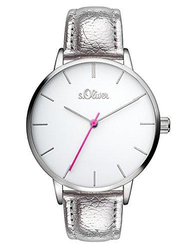 s.Oliver Damen Analog Quarz Uhr mit PU Armband SO-3462-LQ