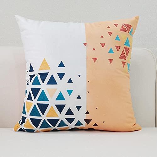WUSUOWEIJU Funda Cojin Triángulos De Colores,Funda De Cojín Funda De Almohada De Microfibra Decorativa para Sofá para Decoración del Hogar,45 X 45 Cm con Cremallera Invisible