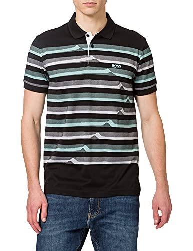 BOSS Paddy 3 Camisa de Polo, Negro1, S para Hombre