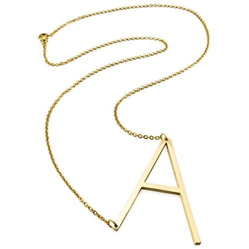 MunkiMix Acero Inoxidable Colgante Collar Oro Dorado