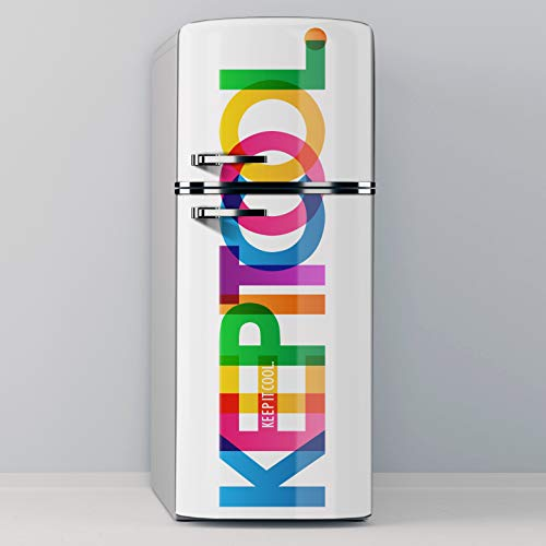 Vinilo Adhesivo Decorativo para Nevera, Especial Libre De Burbujas, Keep it Cool (70x185cm)