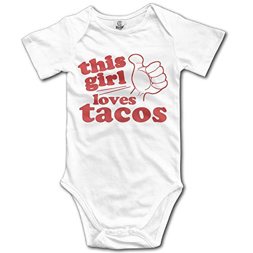 Toddler I Just Freaking Love Tacos Sleeveless Baby Clothes Bodysuits Jumpsuit Suit 0-24 Months