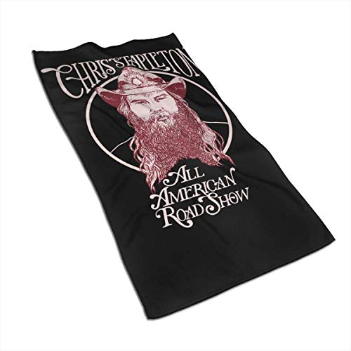 Shichangwei Chris Stapleton Toallas for Pool, SPA, and Gym Lightweight and Highly Absorbent Quick Drying Medium Bath Toallas 27.5 x 17.5in