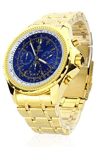 Chronomart Orkina Herren Uhr Chronograph mit Edelstahl Armband ORK-0030