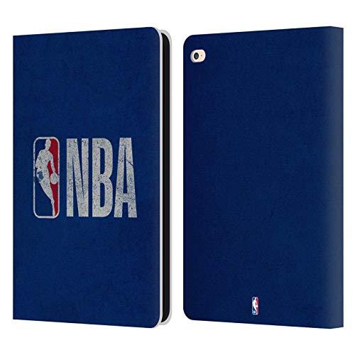 Head Case Designs Oficial NBA Aspecto Angustiado Logoman Carcasa de Cuero Tipo Libro Compatible con Apple iPad Air 2 (2014)