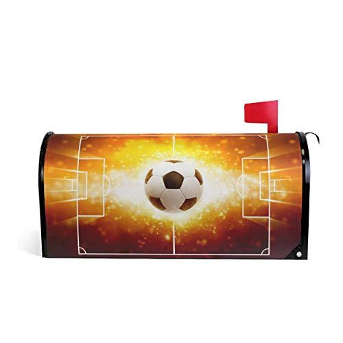 25,4x20,78 Zoll übergroßen Fußball Magnetic Mailbox Cover MailWraps Garden Yard Home Decor für draußen