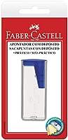 Apontador com Deposito Plástico, Faber-Castell, SM/060124ZF, Cores Sortidas