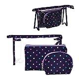 Vidal Regalos Set Neceser x3 Viaje Estuche Maquillaje 3 Modelos Estrellas Azul 24 cm