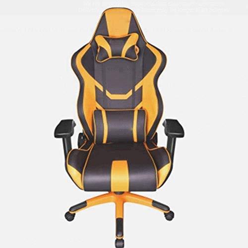 Verlicht vermoeidheid Game stoelen, game stoelen, computer thuis stoel, verstelbare high-backed bureaustoel, kantel de zitting in de elektrische gelakt aluminium voet scrub te verhogen om de armsteun