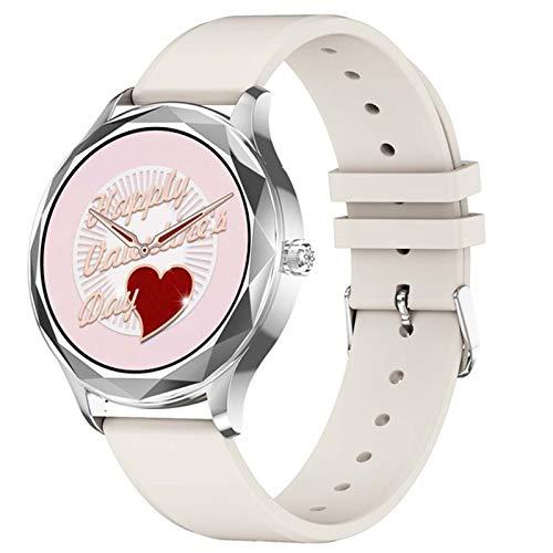 SZP Moda Señoras Reloj Inteligente Ritmo Cardíaco Presión Arterial Metro Podómetro Fitness Tracker Impermeable Dt86 Señoras Smartwatch,B