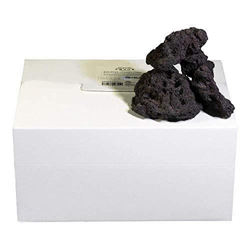 高濾過溶岩 国産中小型溶岩石 3~12cm 35個セット 黒系 60cm水槽レイアウト用品