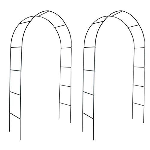 Arco de jardín 2 Piezas Arco para Enredaderas Arco con la Puerta...