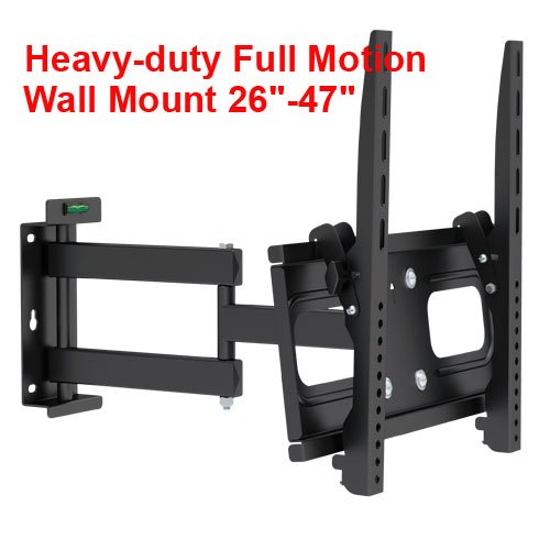Great Price! Cmple - Heavy-Duty Full Motion Wall Bracket for Flat TV's 26-47 with Built-in Screen L...