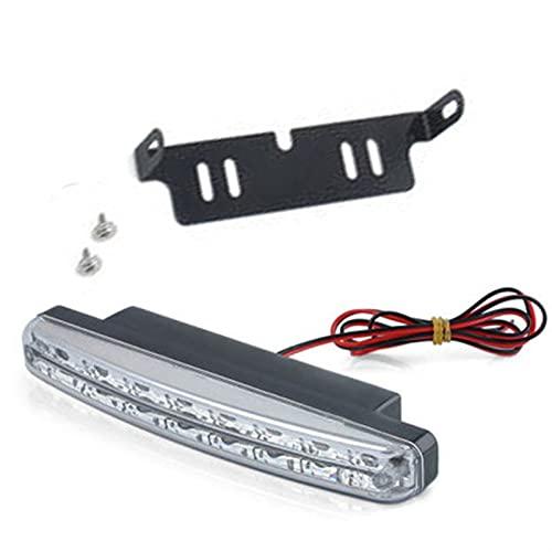WSCHENG Nuevo 8 LED CARRERO DE LUZ DE DISTRIENTE Drud DRL The Fog DRIVIDOR DIERNO DIERNO Lámparas DRL para Luces de navegación automáticas Lámpara Single
