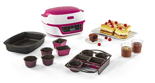 Tefal Cake Factory Delices, Máquina inteligente para hornear, repostería, muffins, moldes CreaBake incluidos, 5 programas, compatible con moldes CreaBake, Pain, CreaBake, Cremas Postre KD810112