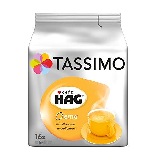 Tassimo Cafe Hag Crema Decaffeinated Coffee Capsules T-Discs 1 Pack