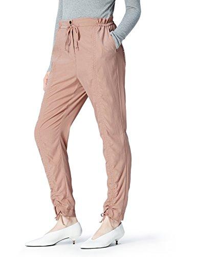 Marca Amazon - find. Pantalón Fruncido para Mujer, Rosa (Pink), 42, Label: L