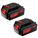 2Pack 6.0Ah 20V Replacement Battery For Black&Decker 20 Volts Lithium Tools LBXR20 LBXR20-OPE LB20 LBX20 LBX4020 LB2X4020 LB2X4020-OPE