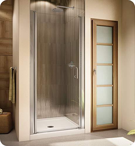 Fleurco E2527-11-40 Banyo Sevilla Semi Frameless In Line 70 Pivot Shower Door in Chrome/Clear Glass