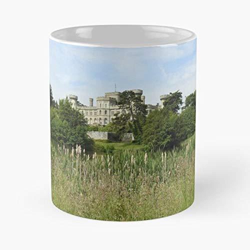 mconcepts Earl Castle History Eastnor Heritage Green Listed Somers La Mejor Taza de café de cerámica de mármol Blanco de 11 oz