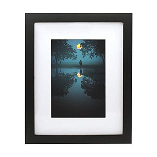 Marco de fotos negro blanco marco de fotos para póster de lienzo moderno nórdico, pintura de diamante para colgar en la pared (color: negro, tamaño: 20 x 25 cm)