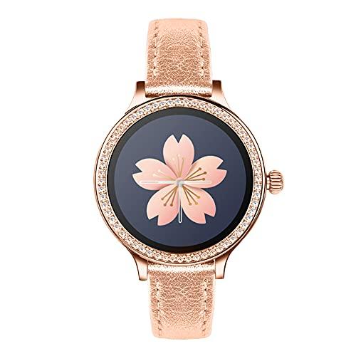 VVEMERK Pulsera de fitness para mujer con diamantes de imitación, reloj inteligente con dial de cristal