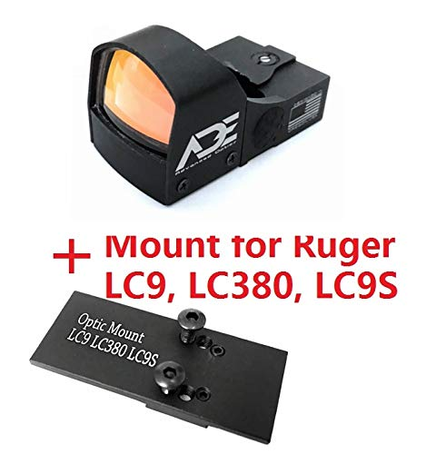 Ade Advanced Optics Compact RD3-009 Red Dot Reflex Sight for Ruger LC9,LC380,LC9S Pistol