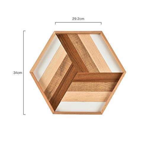 CKH Japanse zeshoekige lade massief hout theekopje taart brood plaat huishoudelijke opslag schotel eenvoudige Snack containers