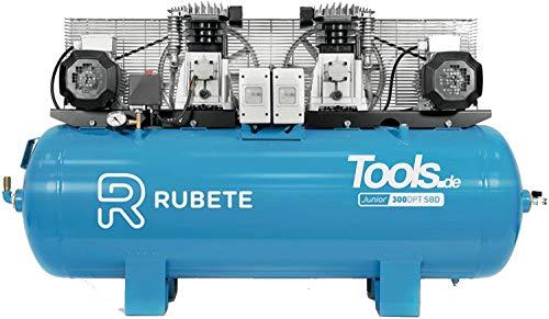 300DPT Tandem Kompressor 10 bar Betriebsdruck 15 bar (max) 3+3 PS 700 L/min 400V 1000 RPM - 290 L Kessel Tandemkompressor by Tools.de