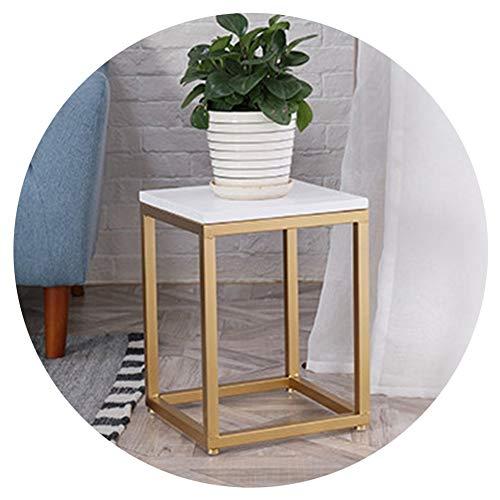 ZHANWEI växt blomstativ tjockare järn massiv träpanel inomhus vardagsrum blomkrukor hållare, 3 storlekar (färg: Guld, storlek: 30 x 30 x 40 cm)